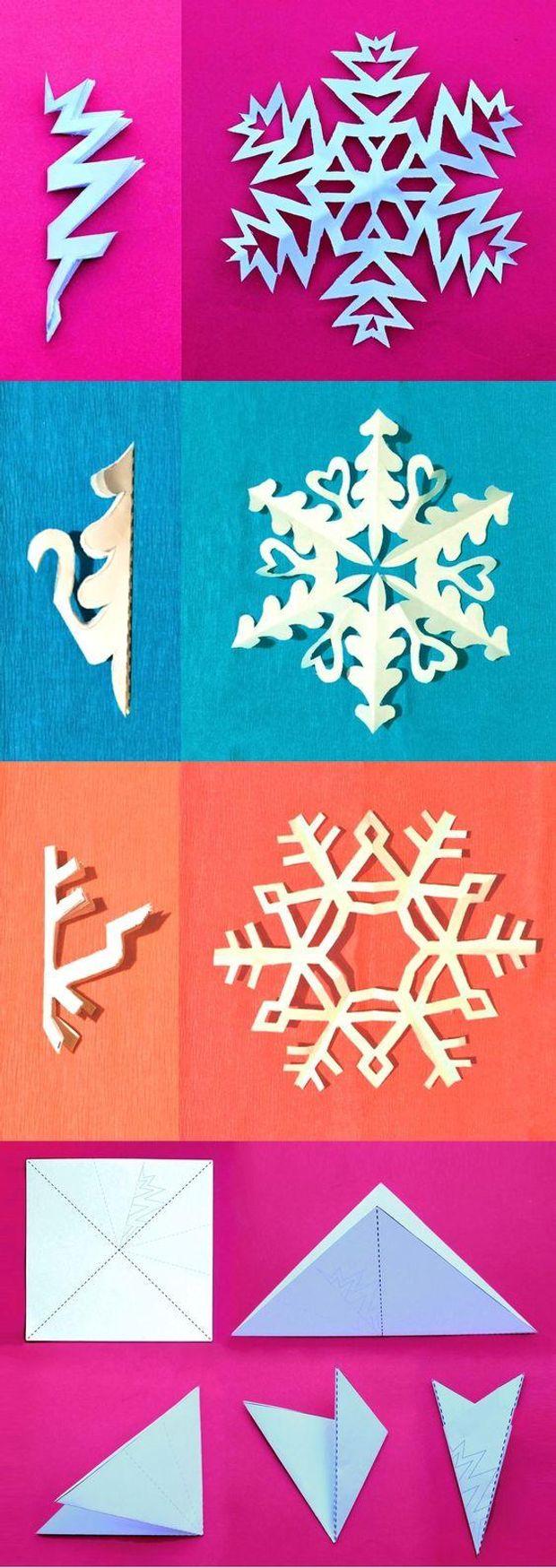 Снежинки из бумаги простые и красивые