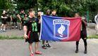 """Десантники зі США зіграли в американський футбол із львівськими """"Левами"""""""
