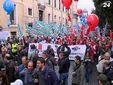 Тысячи людей протестовали против пенсионной реформы Монти