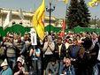 Возле Верховной Рады и Кабмина митинговали чернобыльцы