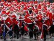 По улицам Белграда пробежались около двух тысяч Дедов Морозов