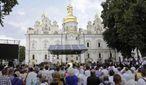 На літургію в Лаврі на честь хрещення Русі прийшло 1,5 тисячі вірян