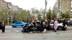 У центрі Донецька зіштовхнулись 2 авто бойовиків