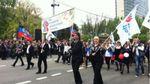 Парад, байкери та триколори: у Донецьку святкують річницю псевдореферендуму