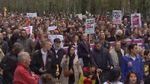 Тысячи людей разных рас и национальностей вышли на улицы Брюсселя