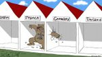 Российские фаны стали героями остроумной карикатуры