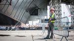 Новим укриттям накривають Чорнобильську АЕС