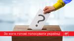 За кого голосуватимуть українці на виборах до парламенту (Інфографіка)