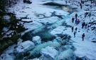 У Карпатах замерз найбільший каскадний водоспад України: з'явились неймовірні фото