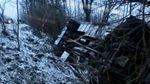 Автобус с пассажирами слетел с дороги в обрыв на Закарпатье