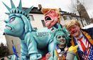 Меркель-мамонт и Трамп-насильник: в Германии провели карнавал скульптур
