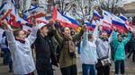 Як окупанти святкували з терористами анексію Криму: опубіліковані фото