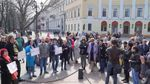 В честь погибших бойцов АТО устроили молчаливый митинг