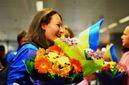 Как украинских баскетболисток встречали ночью в аэропорту после удачного выступления на Чемпионате мира: трогательные фото
