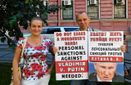 Россияне провели ряд пикетов с требованиями прекратить войну России против Украины