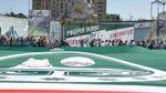 Об'єднатися задля перемоги над Росією: найбільший прапор Ічкерії розгорнули у Києві