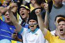 Украина – Исландия: украинские фаны устроили в Рейкьявике патриотический перфоманс