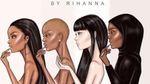 Рианна выпустила стильные видеоролики о своей первой коллекции косметики