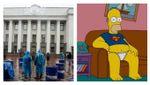 Чим протестувальники з авто з іноземними номерами нагадують Гомера Сімпсона