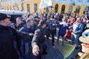 Візит Саакашвілі до Одеси: на площі біля Дюка спалахнули сутички