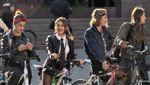 Шкіряні куртки, бандани та червона помада: у Львові влаштували жіночий велопарад