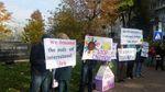 Акція під посольством США: переселенці оголосили голодування