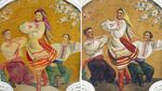 У Москві відреставрували фрески з українцями до невпізнанності