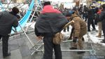 В полиции отреагировали на самовольный демонтаж конструкции в центре Киева