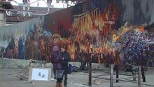 Прикарпатський художник створює діораму Майдану
