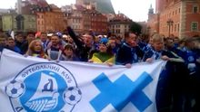 Варшаву заполонили футбольные фанаты из Украины