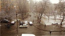 Кияни радісно діляться фотографіями та відео снігопаду