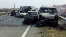 Масштабное ДТП на трассе Одесса – Киев: 5 машин загорелось, есть жертвы