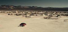 Як автомобілем намалювати портрет величезного колібрі на піску