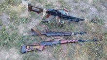 Бійці АТО взяли в полон бойовиків та трофейну російську зброю