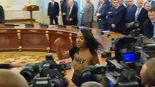 В полиции рассказали, что светит активистке FEMEN, которая обнажилась на Банковой