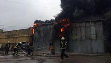 Крупный пожар вспыхнул в Киеве: появились жуткие фото