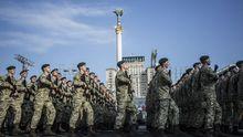 Военный парад ко Дню Независимости в Киеве: видео