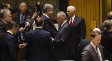 Порошенко з віце-президентом Трампа бойкотував виступ Лаврова на Радбезі ООН