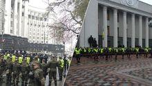 Будівля Ради у Києві оточена подвійним ланцюгом правоохоронців: з'явились фото