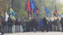 Збільшується кількість мітингувальників під Верховною Радою