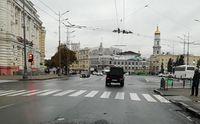 В Харькове автомобиль-нарушитель едва не повторил смертельную аварию, случившуюся накануне