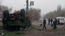 Авария с военными в Запорожье: есть погибший
