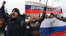 """""""Гаварі па-русскі"""": протестувальників обурив виступ українською чиновника на Донбасі"""