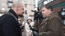 """Скандальный журналист Коцаба получил по лицу от члена """"Правого сектора"""": видео"""