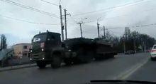 Військова техніка на вулицях Сімферополя: опубліковане відео