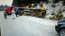 На Львовщине разбился микроавтобус с пассажирами: есть травмированные