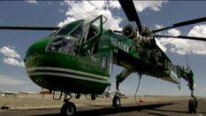 Екстремальні умови роботи першого у світі крана-вертольота