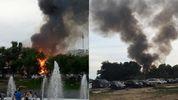 В Одесі біля популярного пляжу палає ресторан: з'явилися перші фото та відео