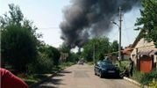 Донецк страдает от сильного пожара