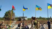 На линии фронта установили мемориал погибшим украинским военным: фото